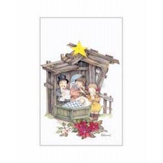 Creatief Art Pakket 6x SWR 3-0141 kinderen aan kerststal