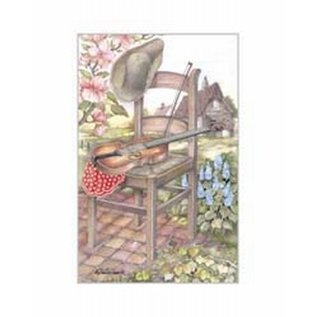 Creatief Art Pakket 6x SWR 3-0149 stoel met viool