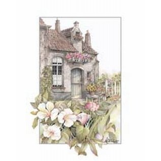 Creatief Art Pakket 6x SWR 394  huis met bloemen
