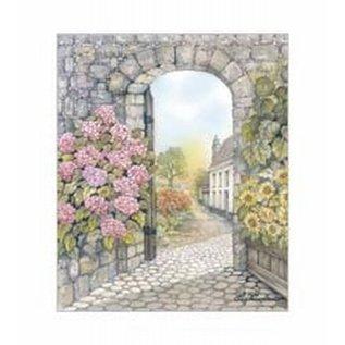 Creatief Art Pakket 6x SWR0053 poort met bloemen