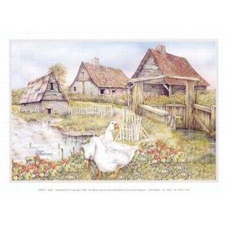 Creatief Art Pakket 6x SWR2-0002  Landschap met zwanen