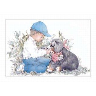 Creatief Art Pakket 6x SWR2-0005  jongen met hond