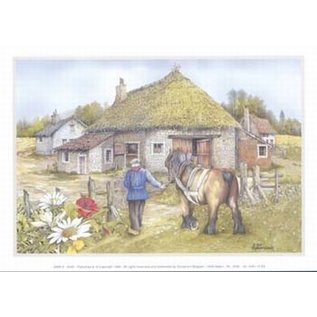 Creatief Art Pakket 6x SWR2-0056 boer met Brabants paard