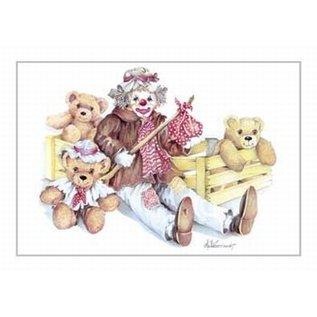 Creatief Art Pakket 6x SWR2-0057 clown met beren