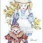 Creatief Art Pakket 6x SWR2-0058 meisje met berenclown