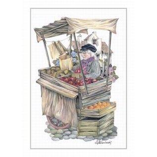 Creatief Art Pakket 6x SWR2-0072 man bij fruitkraam