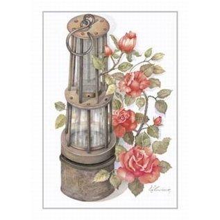 Creatief Art Pakket 6x SWR2-0076 Mijnlamp met rozen