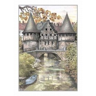 """Creatief Art Pakket 6x SWR2-0081 Gent """"Het Raboot"""""""