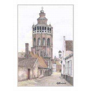Creatief Art Pakket 6x SWR2-0083 kerk in Brugge