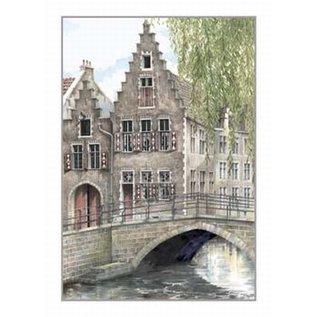 Creatief Art Pakket 6x SWR2-0097 brugje in Gent