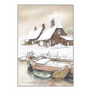 Creatief Art Pakket 6x SWR2-0102 boot aan kaaj winter