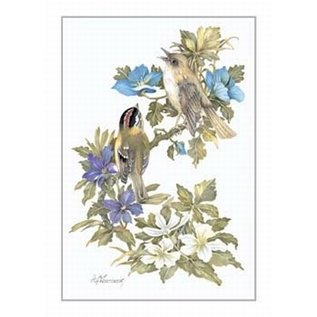 Creatief Art Pakket 6x SWR2-0133 vogels op tak