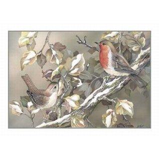 Creatief Art Pakket 6x swr2-0134  vogels op dak
