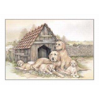 Creatief Art Pakket 6x SWR2-0138 honden voor hok