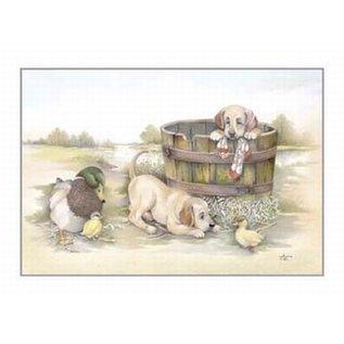 Creatief Art Pakket 6x SWR2-0139  honden in ton