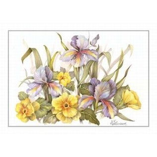 Creatief Art Pakket 6x SWR2-0142 bloemen geel-paars
