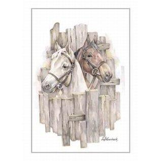 Creatief Art Pakket 6x SWR2-0143 paarden voor hek