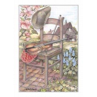 Creatief Art Pakket 6x SWR2-0149  stoel met viool
