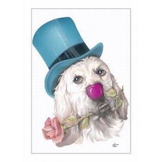 Creatief Art Pakket 6x SWR2-0155 Hond met hoed