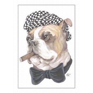 Creatief Art Pakket 6x SWR2-0156  Hond met sigaar