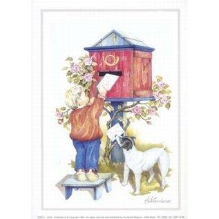 Creatief Art Pakket 6x SWR2-0200 Kind en hond aan brievenbus