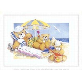 Creatief Art Pakket 6x SWR2-0203 Beren op strand