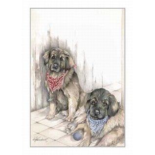 Creatief Art Pakket 6x SWR2-5016  Honden Leonbergers