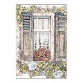Creatief Art Pakket 6x SWR2-5025  Venster met bloemen