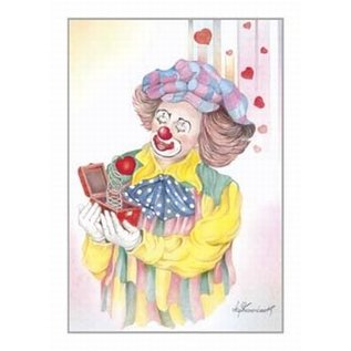 Creatief Art Pakket 6x SWR2-5028   clouwn met harten