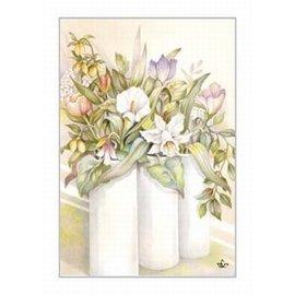 Creatief Art Pakket 6x SWR2-5043  bloemen in vaas