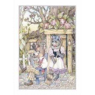 Creatief Art Pakket 6x SWR2-5049 Muizen met bezem en boek