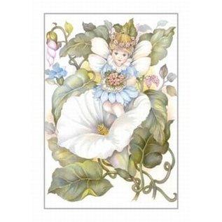 Creatief Art Pakket 6x SWR2-5053 elfje in bloemen