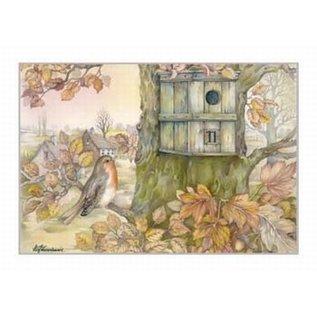 Creatief Art Pakket 6x SWR2-5054 vogelnestje tegen boom