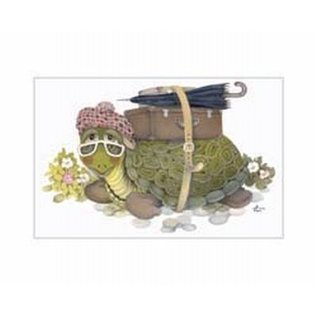 Creatief Art Pakket 6x SWR3-0154 Schildpad met reiskoffer