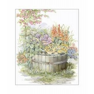 Creatief Art Pakket 6x SWR6-0001 ton met bloemen