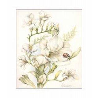 Creatief Art Pakket 6x SWR6-0002 witte bloemen