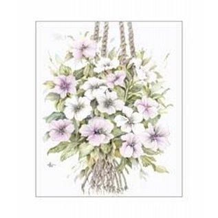 Creatief Art Pakket 6x SWR6-0003 bloemen aan touw