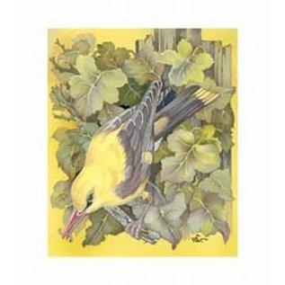 Creatief Art Pakket 6x SWR6-0004  vogel tussen bloemen