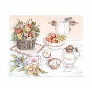 Creatief Art Pakket 6x SWR6-0010 keukenmotief met fruit