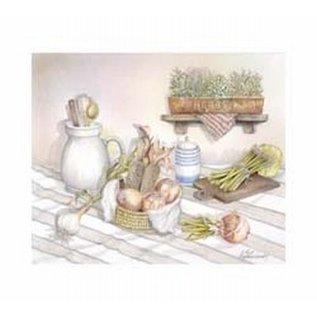 Creatief Art Pakket 6x SWR6-0012 keukenmotief met uien
