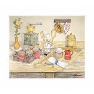 Creatief Art Pakket 6x SWR6-0013 keukenmotief met koffiemolen