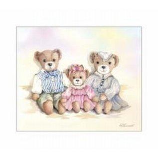 Creatief Art Pakket 6x SWR6-0016 berenfamilie
