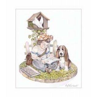Creatief Art Pakket 6x SWR6-0018  jongetje met hond