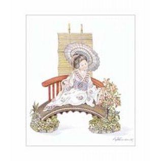 Creatief Art Pakket 6x SWR6-0019  Chineese vrouw op bank