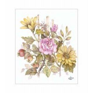 Creatief Art Pakket 6x SWR6-0026 boeket met rozen