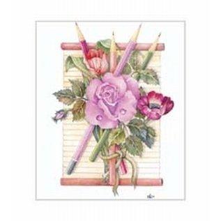 Creatief Art Pakket 6x SWR6-0031  rozen met potloden
