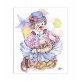 Creatief Art Pakket 6x SWR6-0038 clown in bloemen