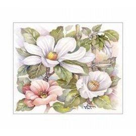 Creatief Art Pakket 6x SWR6-0047 Witte bloemen