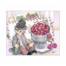 Creatief Art Pakket 6x SWR6-0049 oude man bij kersen