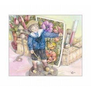 Creatief Art Pakket 6x SWR6-0050 Kind bij schilderskist